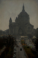 Foggy morning - Cathedral of Saint Paul - St. Paul, MN